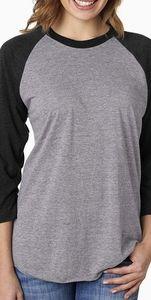 Vintage Raglan Baseball T shirt 3/4 Sleeve